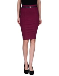 Fornarina Knee Length Skirts Purple