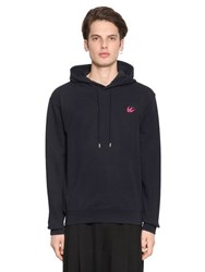 Mcq By Alexander Mcqueen Hooded Swallow Detail Cotton Sweatshirt