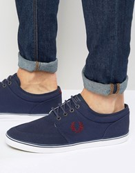 Fred Perry Stratford Canvas Plimsolls Navy