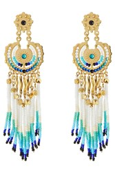 Gas Bijoux Apache Small 24Kt Gold Plated Chandelier Earrings Multicolor