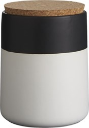 Cb2 Dip Black And White Small Canister