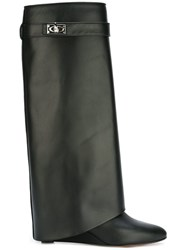 Givenchy 'Shark Lock' Wedge Boots Black