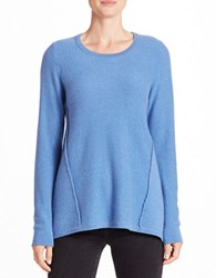 Lord And Taylor Mixed Panel Cashmere Sweater Arctic Heather