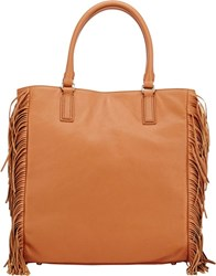 Barneys New York Christine Fringed Tote Nude