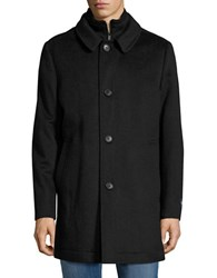 Hart Schaffner Marx Wool Blend Coat Black Heather