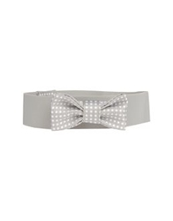 Pink Bow Belts Light Grey