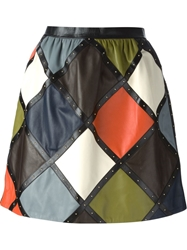Valentino Quilted Mini Skirt Multicolour
