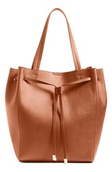 Bp. Faux Leather Drawstring Tote Brown Cognac