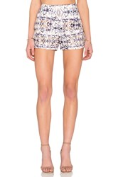 Lucca Couture Mixed Kaleidoscope Short White