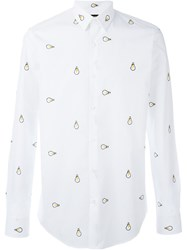 Fendi Lightbulb Embroidered Shirt White