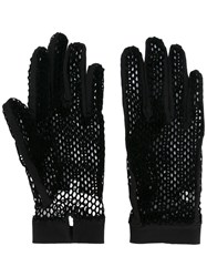 Maison Martin Margiela Mm6 Net Gloves Black