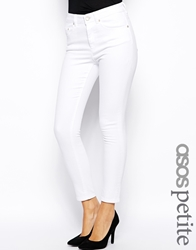 Asos Petite Whitby Low Rise Skinny Jeans In White