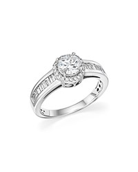 Bloomingdale's Diamond Halo Engagement Ring In 14K White Gold 1.10 Ct. T.W.