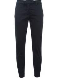 Dondup Cropped Chino Trousers Blue