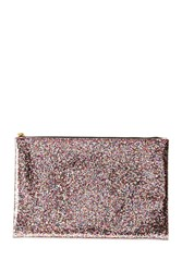 Forever 21 Glitter Makeup Pouch Pink Multi