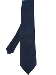Etro Diagonal Stripes Tie Blue