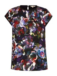 Yumi Cherry Blossom Printed Top Multi Coloured