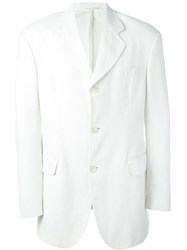 Dolce And Gabbana Vintage Three Button Blazer White