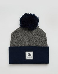 Element Beanie Dusk With Bobble Grey