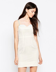 By Zoe By Zoe Sports Luxe Perforated Dress Ecrujean