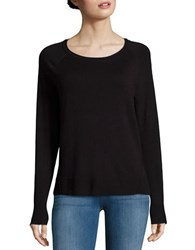 Lord And Taylor Knit Crewneck Sweater Black
