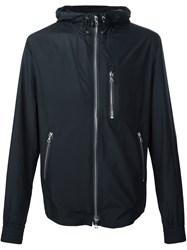 Officine Generale Hooded Zip Jacket Blue