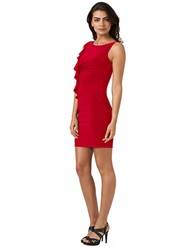 Hailey Logan Jersey Side Ruffle Dress Rouge
