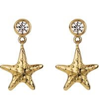 Theo Fennell 18Ct Yellow Gold And Diamond Starfish Earrings