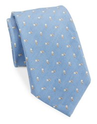 Vince Camuto Dotted Silk Blend Tie Navy Brown