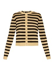 Dolce And Gabbana Metallic Stripe Fine Knit Cardigan