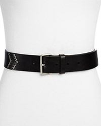 Paige Lydia Leather Belt Black
