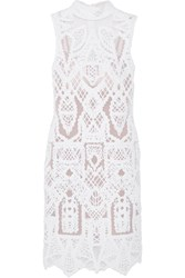 Jonathan Simkhai Embroidered Cotton Blend And Tulle Mini Dress