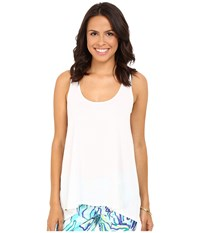 Lilly Pulitzer Monterey Tank Top Resort White Women's Sleeveless