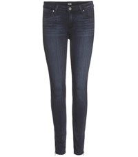 Paige Verdugo Ankle Zip Skinny Jeans Blue