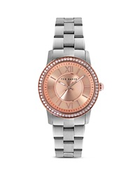 Ted Baker Crystal Embellished Bezel Watch 34Mm Stainless Steel