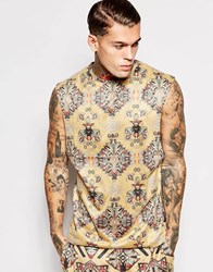 Jaded London Festival Vest In Faux Suede Brown