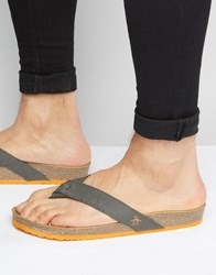 Original Penguin Toe Post Sandals Grey
