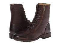 Frye Tyler Double Zip Dark Brown Soft Vintage Leather Women's Lace Up Boots