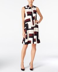 Alfani Petite Printed Shirtdress Only At Macy's Strct Sqrs A