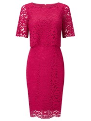Jacques Vert Floating Bodice Lace Dress Pink