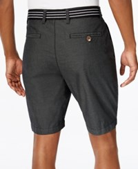 American Rag Men's Micro Stripe Shorts Only At Macy's Black Eucalyptus
