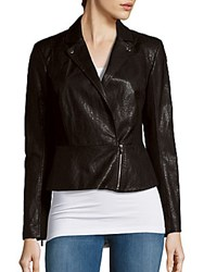 1.State Long Sleeve Moto Jacket Rich Black