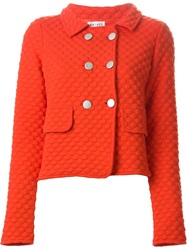 Arthur Arbesser Double Breasted Cropped Jacket Red