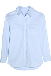 Equipment Signature Cotton Chambray Shirt Sky Blue