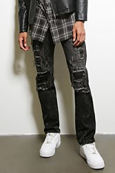 Forever 21 Dope Distressed Jeans Black