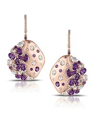 Marco Moore 14K Rose Gold Amethyst And Diamond Earrings