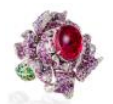 Anna Hu Haute Joaillerie Fantasy Garden Collection Lady Peony Ring In Tourmaline Pink