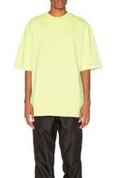 Yeezy Season 3 Heavy Knit Tee In Neon Green Neon Green