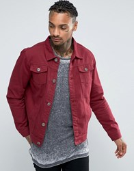 Liquor And Poker Burgundy Denim Jacket Burgandy Purple
