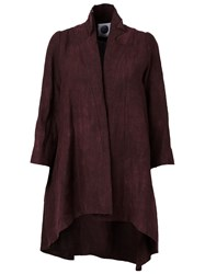 Aganovich Asymmetric Frayed Wide Sleeve Oversized Coat Pink And Purple